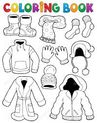 printable coloring pages coloring pages of winter clothes free