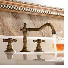 Brass Sink Faucet Antique Brass Widespread 8