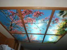 Kitchen Fluorescent Light Covers by Basement Remodel Sky Ceiling Panorama 2094 9 Fluorescent Light
