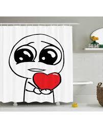 Meme Print - humor shower curtain cute lover romance meme print for