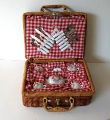 Kids Picnic Basket Sale Child U0027s Raggedy Ann Miniature Tea Set W By Jewelryandthings2