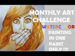 Challenge Technique One Paint Challenge Using Watercolor Easy Watercolor Technique