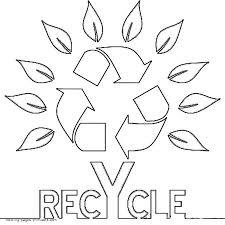 recycling symbol as a tree