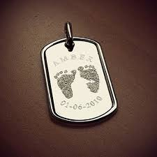 engraved dog tags for men shimmer and custom engraved footprint dog tag inner circle
