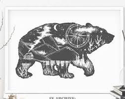 bear tattoo etsy