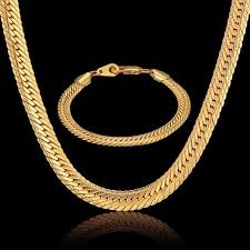 gold color necklace images Dubai jewelry sets men jewelry 8mm hiphop gold color african big jpg