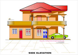 2d elevation and floor plan of 2633 sqfeet house design 2d house