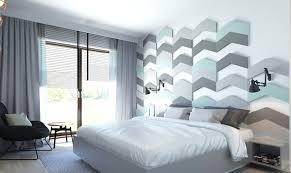 chambre gris vert design interieur deco murale chambre panneau mural chevron vert