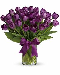 flowers to send purple tulips calgary flowers delivery