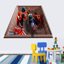 3d wall stickers for bedrooms vesmaeducation com spider man 3d wall stickers for kids rooms decoration boys wall decals superman super hero vinly