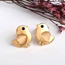 earrings for kids bird stud earrings fashion design plated opal kids