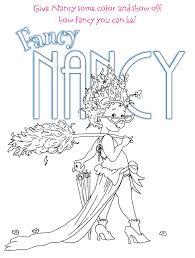 fancy nancy coloring pages 20405