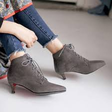 s boots lace up low heel pointed toe low heels lace up ankle boots oasap com