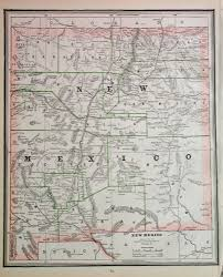 New Mexico State Map by 1886 Map Of New Mexico Territory