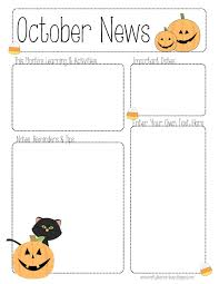 Halloween Poems For Preschool Here Is A Pdf Editable October Newsletter Again It Is For All