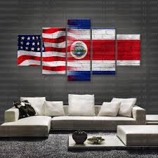 Costa Rico Flag Hd Printed Limited Edition American Costa Rican Costa Rica
