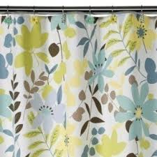Blue And Yellow Shower Curtains Blue Brown Shower Curtain Foter