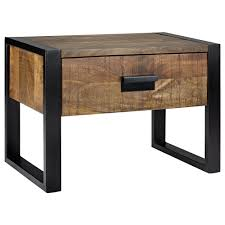 Bouclair Home Decor Epic Wood And Metal Nightstand 92 In Modern Home Decor Inspiration