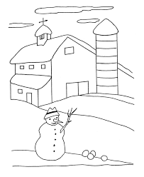 winter coloring pages snowy day winter coloring pages of