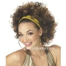 70s disco hairstyles short brown 70s disco afro wig costume buy synthetic wig for