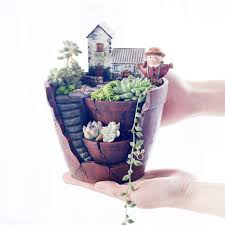 2016 diy mini flower pot hanging gardens creative resin pots for