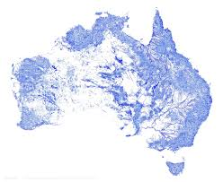 Highly Detailed River Map Of by Water Only Map Reveals Australian Rivers Streams