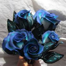 Teal Roses Ann Duncan Designs Polymer Roses Flowers And Other Creations