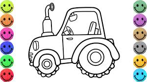 tractor coloring pages drawing tractors for kids learn colors