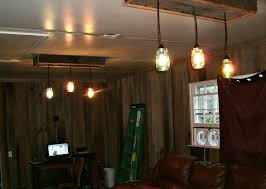 Canning Jar Lights Chandelier Mason Jar Chandelier A Diy Project With Our Barn Wood Update