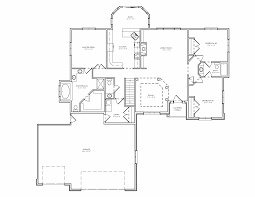 split level house plan three bedroom house plans