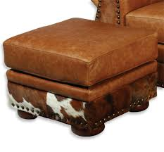 Hide Ottoman Western Furniture The Legend Saloon Hair On Hide
