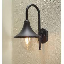 black exterior wall lights konstsmide bari outdoor wall light in black finish castlegate lights