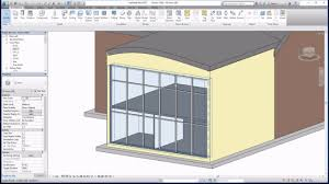 Curtain Wall House Plan Revit 2017 Tutorials Beginners Curtain Walls Youtube