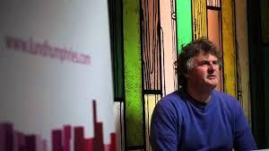artist richard woods in conversation at fair