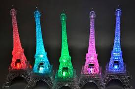 eiffel tower centerpiece centerpieces led eiffel tower light up statue mulit color changing