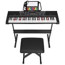 keyboard that lights up to teach you how to play best choice products 61 key teaching electronic keyboard w light up