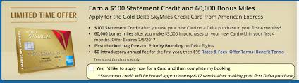 delta gold business card amex delta gold card 60k with 100 statement credit upon arriving