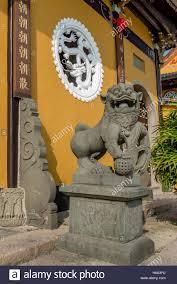 lion foo dog guardian foo dog or lion outside the jiangxin temple of jiangxin