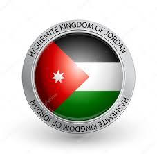 Flag Jordan Badge Flag Of Hashemite Kingdom Of Jordan U2014 Stock Vector