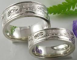 wolf wedding rings engraved 10 karat white gold design wedding bands