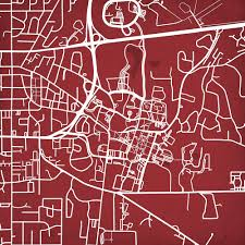 Mississippi State Map Mississippi State University Campus Map Art City Prints