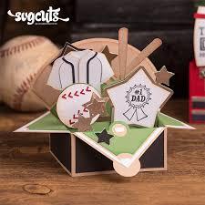 father u0027s day box cards svg kit baseball box card papercrafts