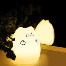 usb cat night light 1pc cute luminaria usb cat led children animal night light silicone