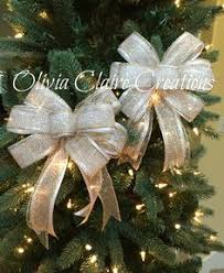 White Bows For Tree Burlap Bow For Wreath Tree Or Gift Basket Ivory