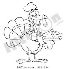thanksgiving turkey clipart 231254 coloring page outline of a