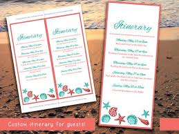 destination wedding itinerary wedding itinerary template wedding planner coral