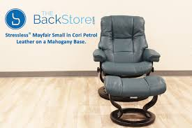 Small Leather Chair And Ottoman Stressless Chelsea Small Mayfair Cori Petrol Recliner Chair And