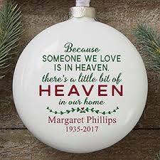 personalized memorial ornament heaven in our home