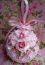 Shabby Chic Christmas Tree by 40 Best Shabby Chic Christmas Ornaments Images On Pinterest