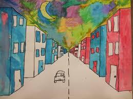 one point perspective road art teacher stuff pinterest